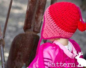 Pattern Crochet Earflap Beanie Hat