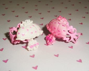 Pretty Parasol Sweet Lolita Pink Filigree Ring
