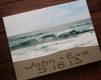 CUSTOM CANVAS Bride and Groom Wedding Gift - personalized message sand writing