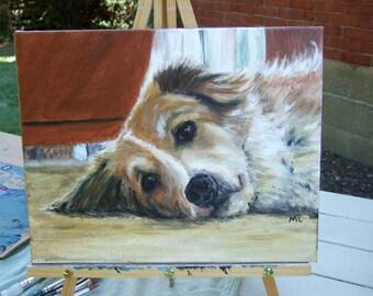 Original Custom Pet Portrait in Acrylic by Melloizes