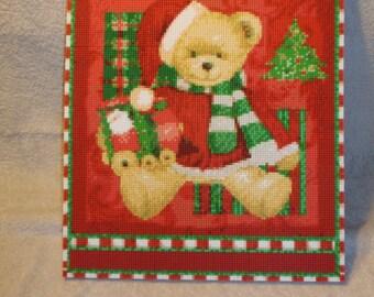 Christmas Teddy Bear Mosaic