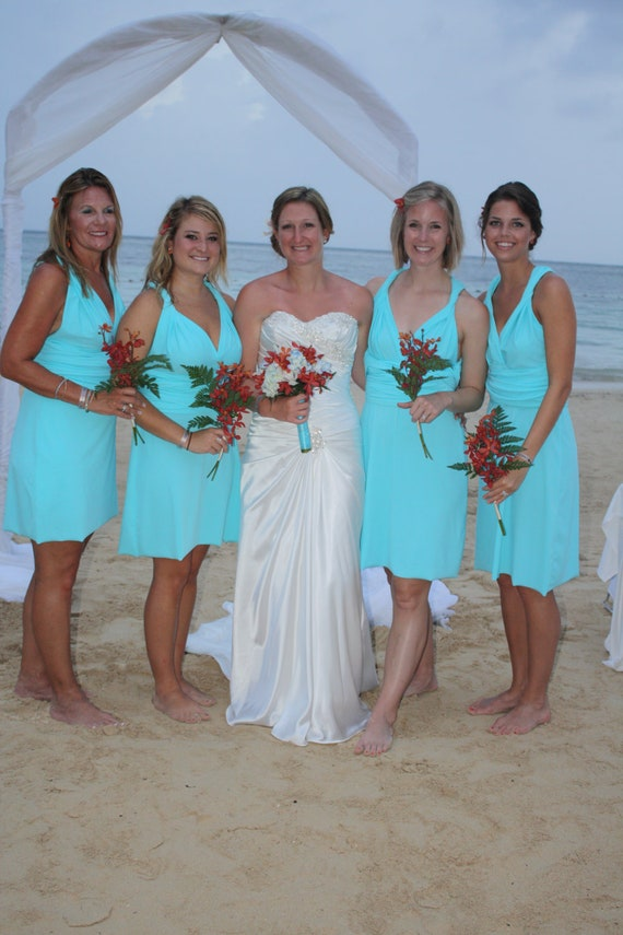 Unavailable listing on etsy for Turquoise bridesmaid dresses for beach wedding
