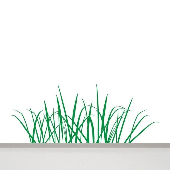 Grass Wall Decal In Cm Long Grass Wall Art Tall Grass - Wall decals grass