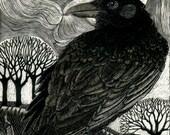 Raven Moon - Fine Art Print