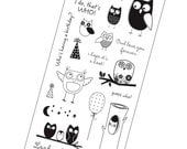 Hampton Art Clear Stamp Owl Set - Who Loves You?