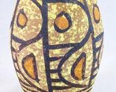 Mid Century Italian Vase Vessel Geometric Made in Italy