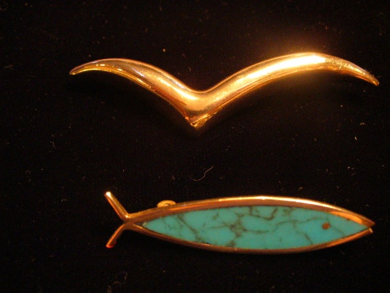 Two Sterling Pins