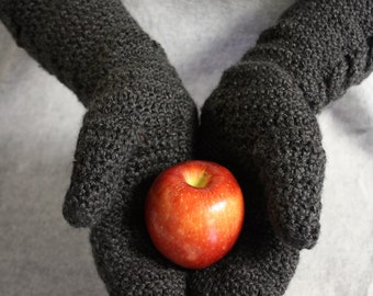 Twilight Inspired Crocheted Bella Cable Stitch Mittens: Made to Order