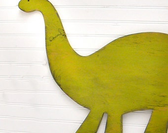 Brachiosaurus Large Dinosaur Sign Childrens Room Decor Nursery Dino Wall Art Key Lime Green