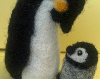 Needle Felted Emperor Penguins