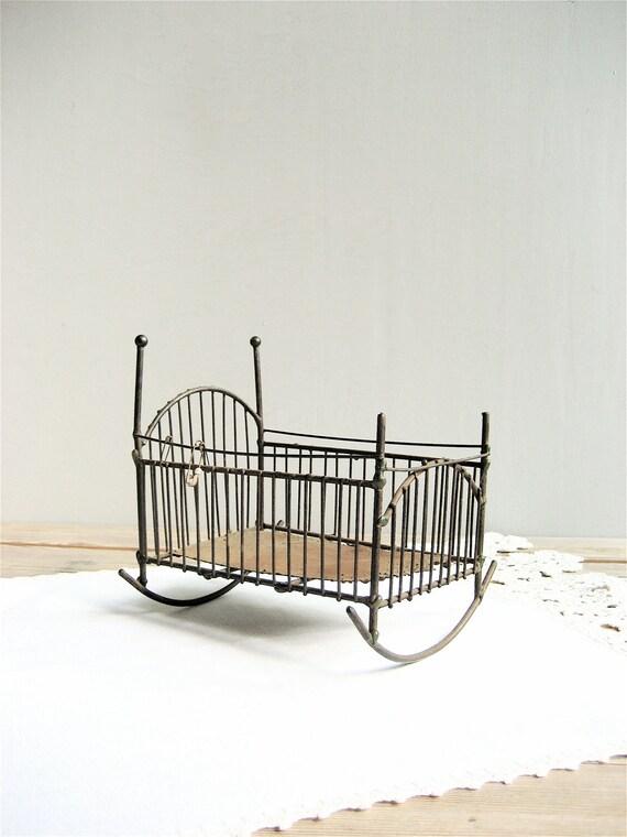 Vintage Metal Baby Cradle