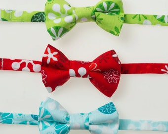 Boys Bowties - Green, Red, or Blue Snowflakes - Choose One