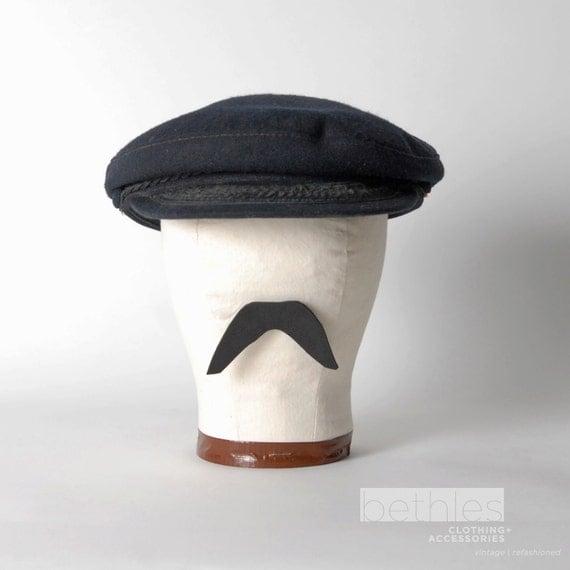 Hat Greek Fisherman Cap Wool Vintage 60s