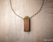Plant Jewelry Grass Necklace Green and Plant Pendant 002
