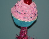 Original Fake Cupcake Tree Topper, Choose your Colors, Christmas Tree Holiday Decor Party Photo Props