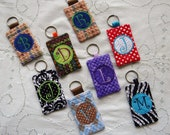 Keychain card holder, ID, Business Card, Credit Card//Personalized//key chain//key chain wallet