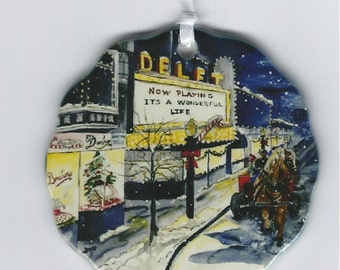 It's a Wonderful Life Donckers and the Delft ornament Marquette Mi.