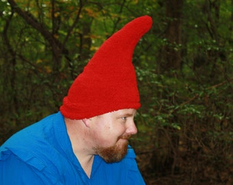 Gnome Hat - Adult size - Ready to ship - Red