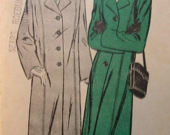Fabulous Vintage 40's Women's CASUAL BOX COAT Pattern Factory Folded