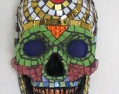 Skull Mask. Mosaic. Original. Day of the Dead. Dia De Los Muertos.