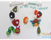 Baby Crib Mobile- The Very Hungry Caterpillar Inspired- Baby Mobile- Custom Made Baby Mobile