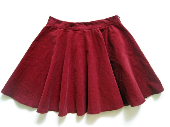 corduroy circle skirt with pockets, multiple colors