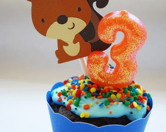 Woodland Squirrel Cupcake Toppers In Your Choice of Color Qty 12 By Your Little Cupcake