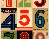 Signals: Argentina, limited edition print 420 x 594mm