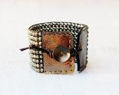 PYRITE CUFF Bracelet by MOONDROPS