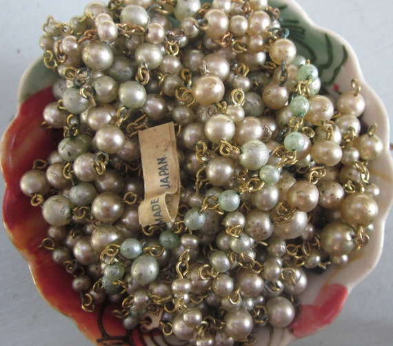 """A Whole Bunch Of Pearl Chain,  Half Of A Cup """"Mixed Bag"""" Vintage"""