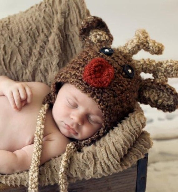 Baby Reindeer hat Christmas in July Sale SAVE 25% (sizes nb-child)