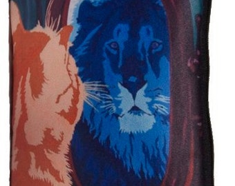 Cat Cosmetic Bag - From My Original Painting, Salvador Reflection
