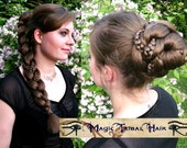 FANTASY BRAID & CHIGNON updo hair fall C U S T O M  C O L O R Reenactment Larp braid extension 20''/ 50 cm Renaissance renfair hair piece