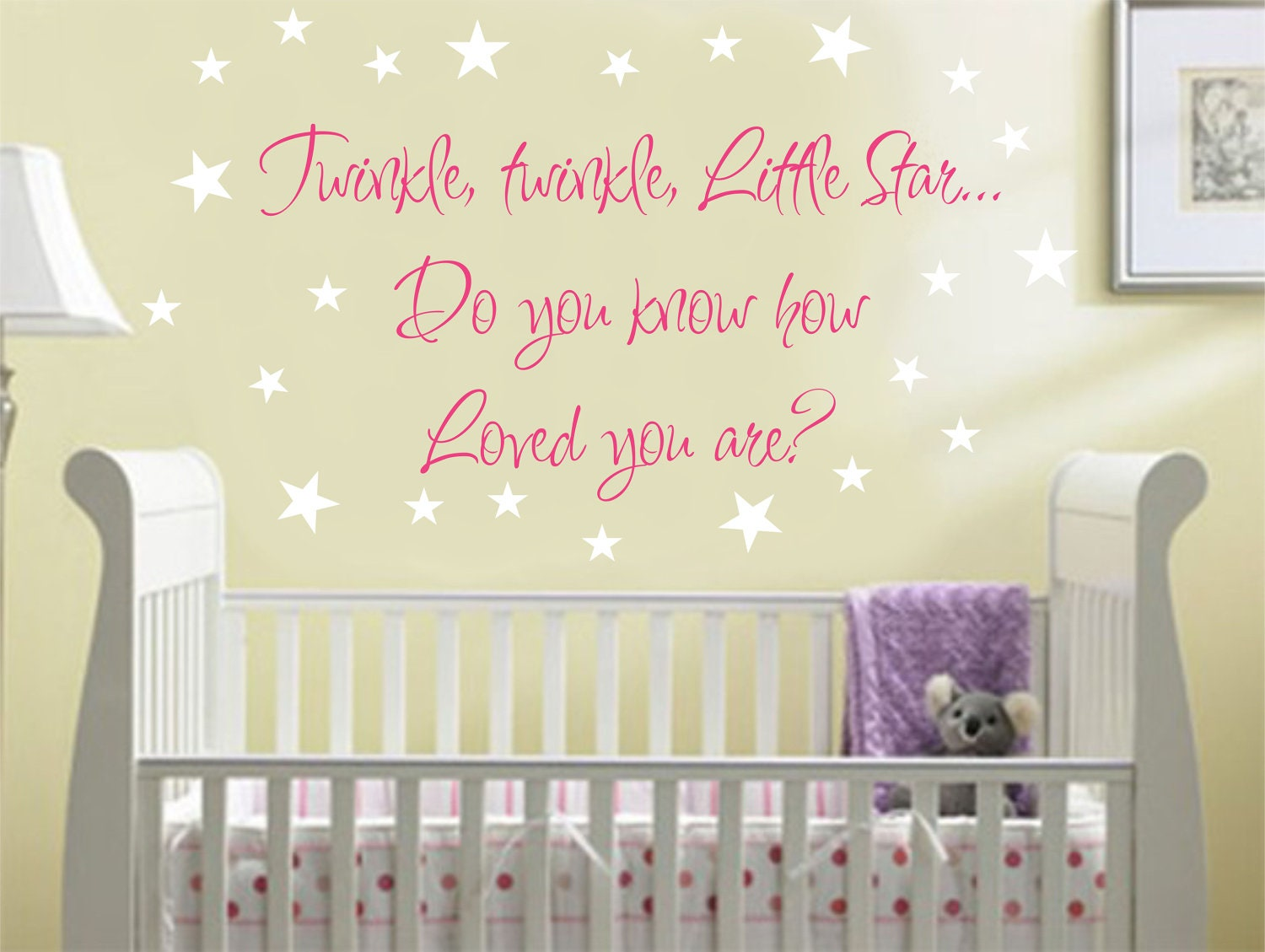 nursery quote wall saying wall decal twinkle baby