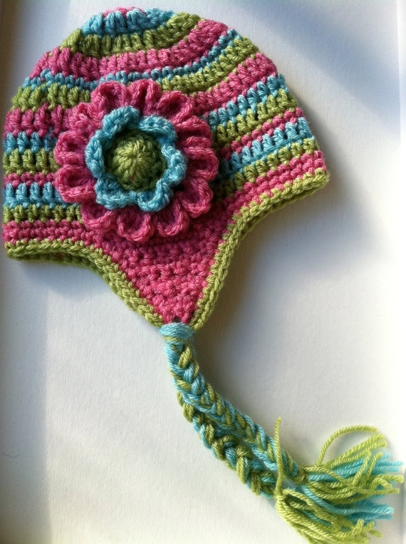 Free Crochet Pattern Toddler Earflap Hat : Lakeview Cottage Kids: Five Crochet Hats of the Day, April 15