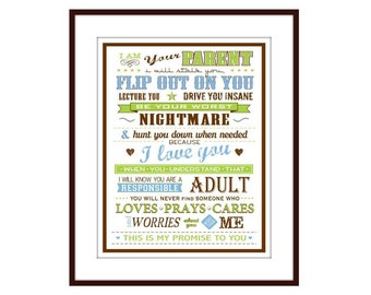Parent Rules Wall Decor, Typography Subway Art Print - I Am Your Parent  Art Poster Art for boys room, Art for girls room, Art for play room