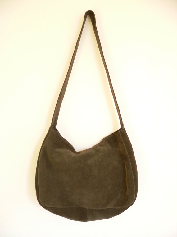 Olive Green Suede Bohemian Purse
