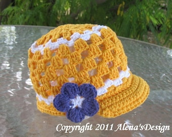 Crochet Pattern 011 - Crochet Hat Pattern - Hat Crochet Pattern for Visor Beanie Hat - Baby Toddler Child Teen Adult Lace Hat Easter Summer