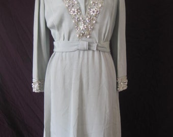 Vintage Dress Sequin Beaded