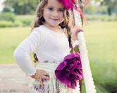Girls Lace Dress with Purple Couture Sash vintage inspired flowergirl thanksgiving EtsyKids Team