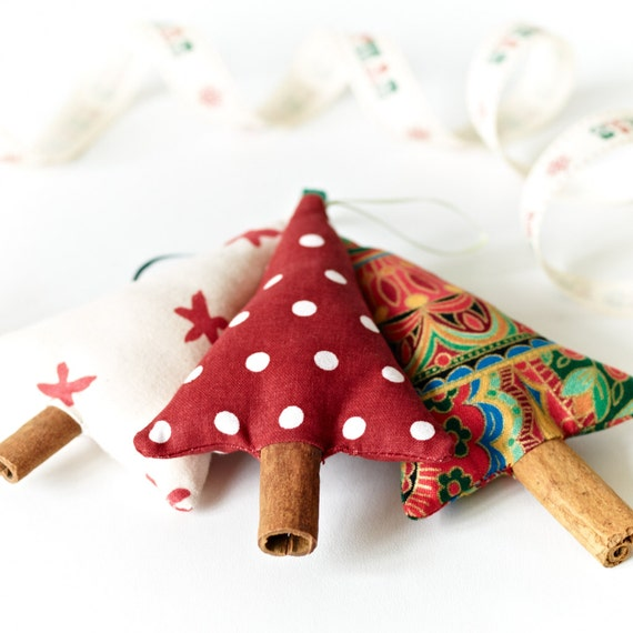 Items Similar To Cinnamon Christmas Tree Decorations Mixed