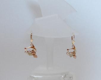 Whitaker's Black Hills Gold Dolphin Dangle Earrings