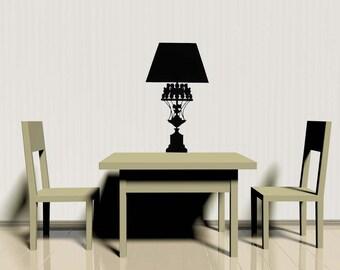 Table Lamp, Victorian Decor, Vinyl Decal, Home Decor, Office Decor, Tween Room Decor, Lamp Shade, Chandelier Decal, Kids Bedroom Wall Art