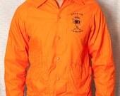 "So Cool ""KEEP ON CAMPING"" - Bright Orange Nylon Jacket - S"