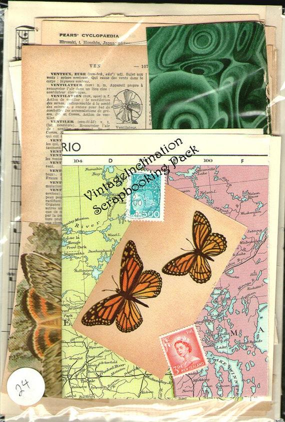 VINTAGE BEAUTIFUL MIX Vintage Collage and Scrapbook Kit pack number 24