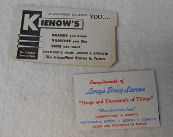 Set of 2 Vintage Advertising Needle Cases