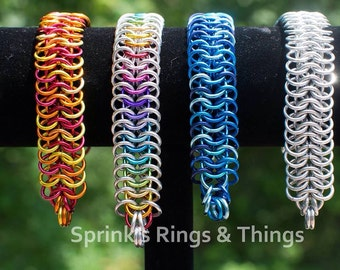 European 6:1 chain maille bracelet