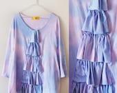 Summer sunset - hand dyed dress with ruffles/murMur