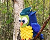 Owl with Hunter's Hat Crochet Pattern, Owl Crochet Pattern, Forest Owl Pattern, Owl Amigurumi Crochet Pattern, Hunter Owl Amigurumi Pattern