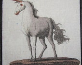 Printed Sew On Patch - UNICORN - Febelwesen - Fable Creatures - Friedrich Bertuch 1747-1842 - p201